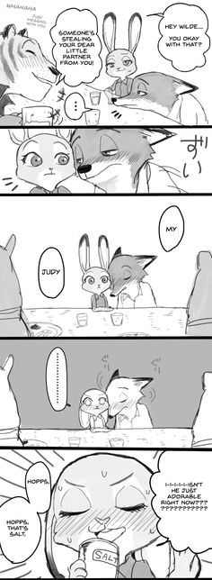 Comic: Nick and Judy Drink (original by Meno) (Translated by the ZNN Translation Team) - Zootopia News Network