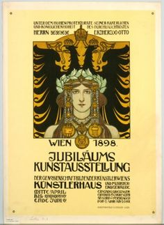 Kaiserjubiläumsausstellung, 1898, Plakat, Lithografie, Entwurf Heinrich Lefler