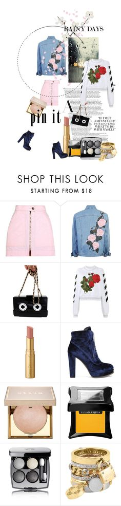 """Easter rain"" by minagligoric ❤ liked on Polyvore featuring Isabel Marant, WithChic, Off-White, Too Faced Cosmetics, Stuart Weitzman, Stila, Illamasqua, Chanel, Henri Bendel and Orthodox"