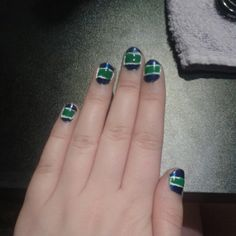 Canuck nails, for the NHL playoffs.