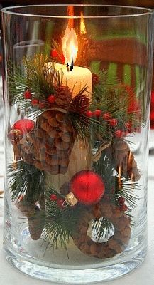 44 Unique Easiest Diy Centerpiece Christmas Table Decorating Ideas - Page 41 of 44 - Abantiades Decor Centerpiece Christmas, Christmas Table Decorations, Christmas Candles, Noel Christmas, Country Christmas, Christmas Projects, Winter Christmas, All Things Christmas, Christmas Wreaths