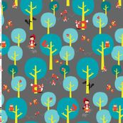 A walk in the dark woods by zesti, click to purchase fabric