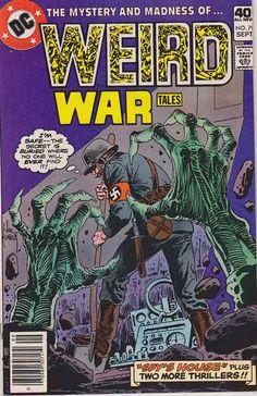 Weird War Tales comics, Rare Weird War Tales comic books, Joe Kubert Cover Art