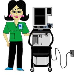 It's the perfect ICU duo: A Respiratory Therapist & her Ventilator machine!!!!!  - Hey, it's the Respiratory Therapists who spend the most time working with the Ventilators in the hospital after all.