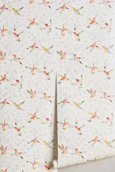Anthropologie Plumed Crest Wallpaper | Anthropologie