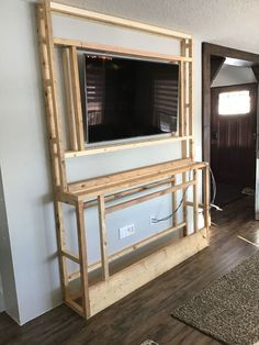 Fireplace Tv Wall, Build A Fireplace, Faux Fireplace, Fireplace Design, Faux Stone Fireplaces, Stone Electric Fireplace, Fireplace Built Ins, Bedroom Fireplace, Fireplace Remodel