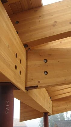 Glulam and steel connection timber building t Wood Steel Structure Buildings, Timber Buildings, Timber Structure, Timber Roof, Timber Beams, Timber Flooring, Wood Truss, Wood Joinery, Laminated Veneer Lumber