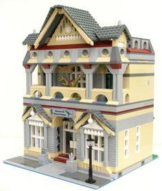LEGO-INSTRUCTIONS-modular-Museum-of-Natural-History-Dinosaur-Monkey-Animal