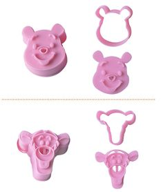 2PCS/Lot, Food Grade Plastic,Bear Shape  For Cookie Cutter, Fondant Bakeware Decorating, Rice, Sanwich Molds 020055 on Aliexpress.com | Alibaba Group