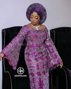 Lovely and Amazing Photos of Traditional Bride - Fashion Ruk Long African Dresses, Latest African Fashion Dresses, African Print Fashion, Nigerian Lace Styles, African Lace Styles, Nigerian Dress, Nigerian Fashion, African Blouses, Lace Dress Styles