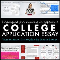 College Application Essay - Personal Essay Editable Tutorial by Tracee Orman Essay Writing Help, Common Core Writing, Writing Prompts, Writing Workshop, College Application Essay, College Essay, Application Form, School Resources, Teacher Resources