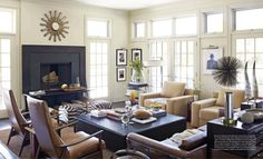 masculine living room. John and Bonnie Edelman