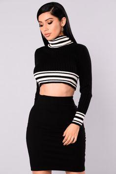 3ae830e7bf4a1 Better Than Ever Crop Sweater - Black. fashionnova.com