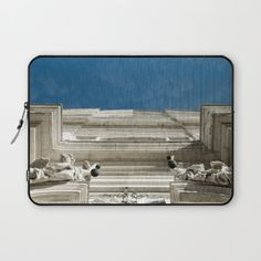"LAPTOP SLEEVE - 15"" Straight Lines Venice church architecture art photography travel wanderlust sky angel spiritual Italy classic minimal by LaCatrina.it"