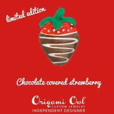 Chocolate Covered Strawberry Charm. Origami Owl Living Locket.... FREE CHARM WITH A $25 OR MORE PURCHASE... Contact me to place your order YourCharmingLocket@gmail.com or message me on Facebook https://www.facebook.com/YourCharmingLocket. Want more than just one locket, consider joining our team for an extra income.