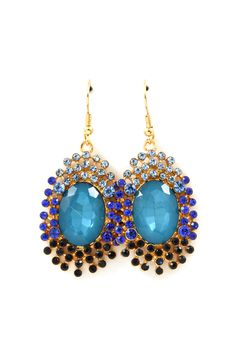 Ani Earrings in Blue Crystal