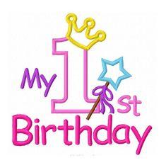 Descarga instantánea mi 1er cumpleaños Applique máquina de | Etsy Birthday Msgs, 1st Birthday Girls, Machine Embroidery Applique, Embroidery Patterns, Happy Birthday Wishes Quotes, Thanks Card, Birthday Scrapbook, Baby Shower Princess, Birthday Numbers