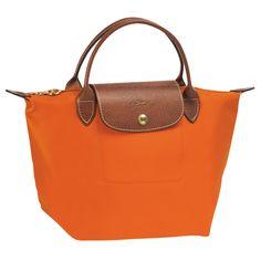 Longchamp Le Pliage in orange!  Yes!
