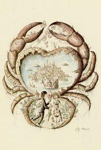 #Cancer (Crab)  June 22-July 22 - #illustration - #art - #drawing