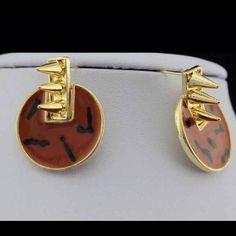 Brown spikes Earrings Cute brown spikes earrings Jewelry Earrings