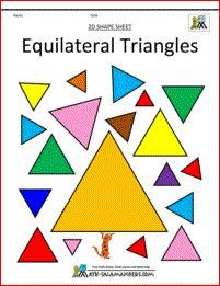 shapes clip art 2d shape sheet col.   Montessori homeschooling ...