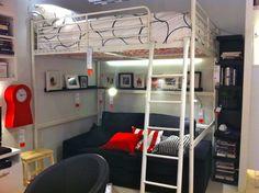 IKEA Loft Bed with Desk   Ikea Bunk
