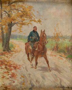 Czesław Wasilewski - Żołnierz na koniu, 1927 r.