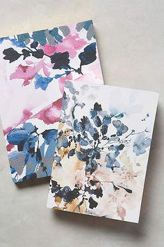 Rain-Smudged Petals Journal - anthropologie.com