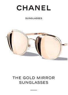 Chanel Gold Mirror Sunglasses 😍😍I want these sooooo bad Cute Sunglasses, Chanel Sunglasses, Ray Ban Sunglasses, Mirrored Sunglasses, Sunglasses Women, Sunnies, Sunglasses Outlet, Sunglasses Price, Sunglasses Accessories