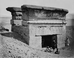 "deathandmysticism: "" Gateway of the Temple of Dendera, Egypt, ca. 1862 """