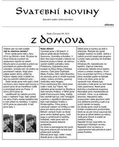 Svatební noviny - stránka 1.