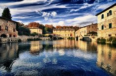 Bagno Vignoni, Val d'Orcia, Tuscany, famous for its thermal baths