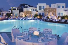 Folegandros - Chora Resort Hotel & Spa Spa Hotel, Hotels And Resorts, Greece, Table Decorations, Mansions, Landscape, House Styles, Outdoor Decor, Image