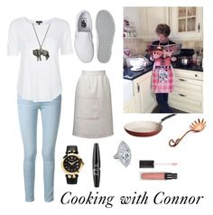 Cooking with Connor by autumnfarmer on Polyvore featuring polyvore, fashion, style, Topshop, Frame Denim, Vans, Versace, NYX, Sophie Conran and Tramontina