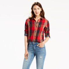 This classic shape is a canvas for your individual style. In perfect fall spirit, it's made from flannel. Cut for a classic fit -- this go-to garment is fitted through the shoulder, with a body slightly curved for subtle waist definition.