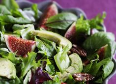 Appetizers: avokado and fig salad/viikunasalaatti Best Party Appetizers, Appetizer Recipes, Fig Salad, Gluten Free Cooking, Sweet And Salty, Something Sweet, Food To Make, Low Carb, Vegetarian