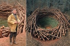 Nils Udo: Der deutsche Künstler lebt im Chiemgau und gehört international zu den Landartkünstlern der ersten Stunde. Sein Motto: Mit Blumen zeichnen. Mit Wolken malen. Mit Wasser schreiben.