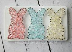 Bunny Trio String Art | Hello Sunshine Home Decor