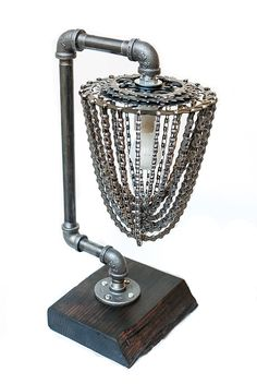 The Apex Industrial Chic Salvage Lamp by annasina on Etsy