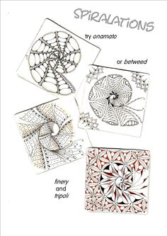 Love Love Love these! onamato, betweed, finery,tripoli. http://shellybeauch.blogspot.ca/p/spiral-guide.html