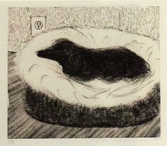 David Hockney, 'Dog Wall (1)' Etching, 1998.