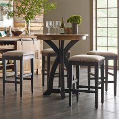 Stone Ridge 5 Pc Bistro Table and Bar Stool Set by Kincaid Furniture