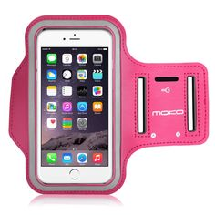 MoKo Armband for iPhone 6 Plus / iPhone 6s Plus, Sweatproof Sports Armband Workout Running Arm Band with Key Holder & Card Slot for iPhone 6 Plus / 6S Plus, MAGENTA (Fits Cellphones up to 6.0 Inch). Designed for Apple iPhone 6 Plus / iPhone 6s Plus and other cellphones up to 6.0 inch. Lightweight armband keeps your iPhone secure and protected. (Note: Suitable for use without phone case). Water Resistant and sweat-proof function to better protect your mobile phone, make you feel more...