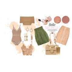 Polished Nudist by gxldiie on Polyvore featuring Blue Vanilla, Balmain, Chanel, Tory Burch, Estée Lauder and Lipstick Queen