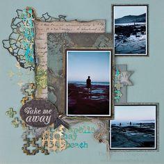 Take Me Away scrapbook layout by Jan
