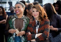 """""""Paolo's just killing it on Instagram."""" Taraji P. Henson as Cookie Lyon and guest star Marisa Tomei as Mimi Whiteman. Photo: Chuck Hodes/FOX"""