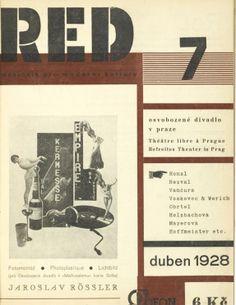 Karel Teige, monthly magazine ReD - Revue Devětsil, 1927-28. Czech Republic, Prague.