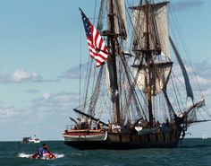 200 Years Later, 18 Tall Ships Re-live the historic Battle of Lake Erie. The Bicentennial was commemorated with a battle re-creation on Lake Erie by Put-in-Bay, Ohio in September, 2013. History came alive! via cleveland.com.