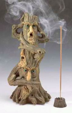 Fortune Teller Theme Century Tree Incense Cone Burner