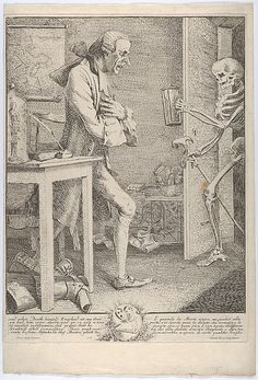 """""""Yo, dude--just returning this book I borrowed...""""Thomas Patch (British, 1725–1782). Laurence Sterne, alias Tristram Shandy: """"And When Death Himself Knocked at My Door"""", 1769. The Metropolitan Museum of Art, New York. A. Hyatt Mayor Purchase Fund, Marjorie Phelps Starr Bequest, 2013 (2013.939)"""